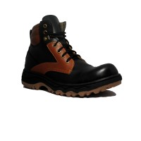 Cut Engineer Safety Boots Impressive Leather - Hitam