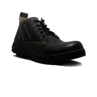 Cut Engineer Safety Boots Pro Iron Leather - Hitam