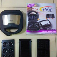 Sandwich Electrik Heles HSM-029-4P / Heles Sandwich Toaster 4in1