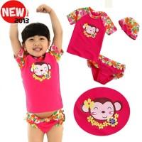 Girl Swimsuit Vivo Biniya Monkey Pink