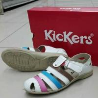 harga Sandal Kickers Wanita Keren Murah Kombinasi Sepatu Flat Wedges Heels Tokopedia.com