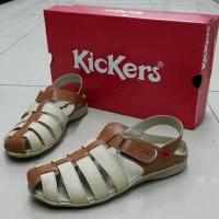 harga Sandal Kickers Wanita Cantik Murah Cocolate Sepatu Wedges Flat Heels Tokopedia.com