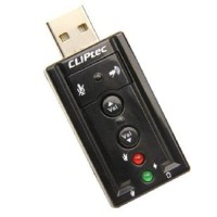 USB Sound Card 7.1 - Hitam