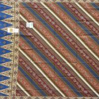Batik Daun Dewa Kain Sarung Daun Dewa Super 176 Biru