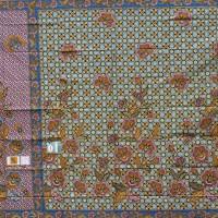 Batik Daun Dewa Kain Sarung Daun Dewa Super 255 Biru