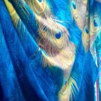 harga Kain Viscose Rayon Challis Motif Bulu Merak Biru Tropical Fabric Tokopedia.com