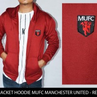 Jaket/Sweater Zip Hoodie MUFC Manchester United - Red