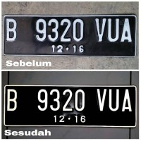 Sticker Huruf Plat Nomor Mobil Scotlight