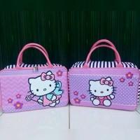 Tas Travel Bag Koper Kanvas Renang Kotak Anak Hello Kitty Tenteng