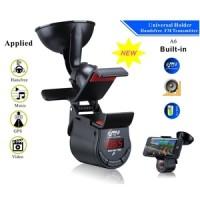 harga 3 In 1 Bluetooth Handsfree Fm Transmitter+universal Smartphone Holder Tokopedia.com