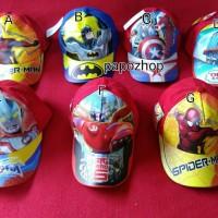 Topi anak karakter kartun film superhero princess disney