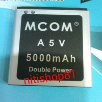 Baterai Cross A5v Duoble Power Merk Mcom