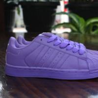 Sepatu Running/Gym Cewek Adidas Superstar Full Color (Purple)