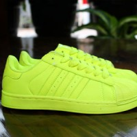 Sepatu Running/Gym Cewek Adidas Superstar Full Color (Lime)