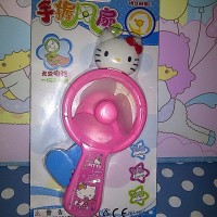 Kipas Angin Pompa Tangan Hand Press Mini Fan Karakter Hello Kitty HK