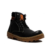 Cut Engineer Safety Boots Lux Premium Leather - Hitam