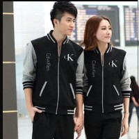 harga Fashion Baju Couple - Jaket Couple Calvin Klein Hitam Abu Tokopedia.com