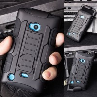 Impact Armor Hard Soft Cover Casing Case Belt Holster Nokia Lumia 720