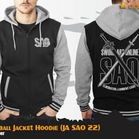 SAO Baseball Jacket Hoodie (Sword Art Online Jaket JA SAO 22)