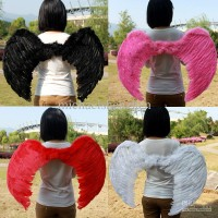 Feather Cupid Wings Angel Kids Fairy Costume Props Birthday Gift Halloween Party /sayap malaikat. bidadari