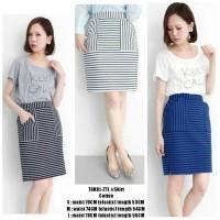 T4hbL rok motif,striped skirt, rok garis-garis,rok motif, rok selutut