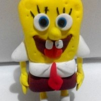 Clay Miniatur figure SpongeBob - Homemade clay. Made by order.