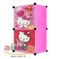 harga Lemari Pakaian Motif Hello Kitty 2 Pintu Type 2.1 Tokopedia.com
