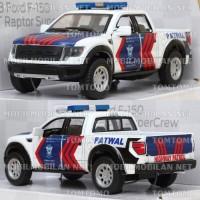 Diecast Ford F-150 Raptor Patwal PJR Polisi Polantas Miniatur Mobil