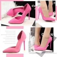 harga 70152 Rose Red Heel PU 11cm Sepatu import wanita/high heels/batam Tokopedia.com