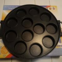 Jual snack maker 12 lubang cetakan martabak mini harga murah (lubang datar) Murah