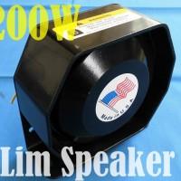 SLIM SPEAKER 200W For Horn Sirine Touring Konvoi PatWaL Police