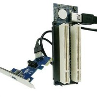 PCI-e to 2 PCI Dual converter adapter PCIe konverter