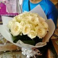 harga Handbouqet | Bunga Tangan | Bunga Mawar Putih | Toko Bunga Tokopedia.com