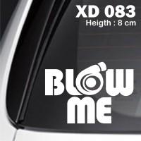 sticker mobil jdm blow me racing otomotif xenia fiesta innova XD-083