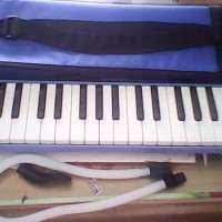 Pianika Kanvas  Blue Murah