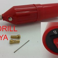 HANAYA Mini Drill with Saklar ON-OFF + Collet 2pcs + Mata Bor