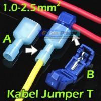 Kabel Jumper T Biru 1-2.5mm2 Wire Connector Suntik Cabang Split Cable
