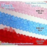 harga Renda Elastis Gelombang (Biru & Merah) Tokopedia.com