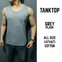 Kaos/ Tanktop/ Singlet Grey Plain