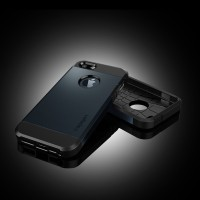CASING SPIGEN TOUGH ARMOR IPHONE 5, SLIM CASE KEREN, LOGO APPLE, SGP