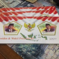Souvenir sheet perangko SBY dan Jusuf Kalla (2005)