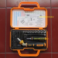 Obeng Jakemy 69 In 1 Kepala Obeng Bergigi Chrome Portable Tool Box