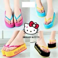 harga Cute Korean Slippers Wedges Sandal Sendal Pink Jepit Hitam Black Shoes Tokopedia.com