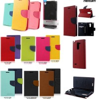 Mercury Fancy Diary flip cover hard soft Case casing LG G3 Stylus D690
