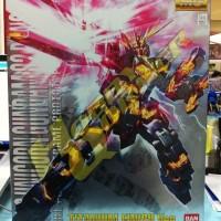 """MG Unicorn Gundam Banshee """"Titanium Finish Ver."""""""