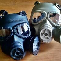 Gas Mask MO4 with Fan Black/Tan