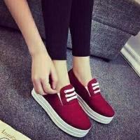 harga Sandal Sepatu Wanita Slip On S3 Merah Delima Tokopedia.com