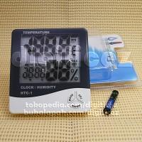Jual HTC-1 Digital Thermometer Hygrometer Alarm Clock Termometer Jam Besar Murah