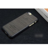 Casing HP Unik Apple Logo Wood Hardcase Black Iphone 5/5s/6