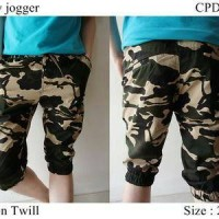 harga celana jogger pants army pendek 7/8 cowo/laki Tokopedia.com